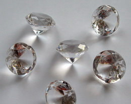 acrylic glass diamonds