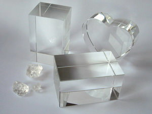Crystal glass blocks