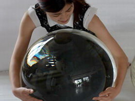 Crystal glass balls large