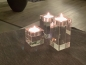 Preview: Crystal glass candleholder tea lights - 3 pieces 2