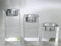 Preview: Crystal glass candleholder tea lights - 3 pieces