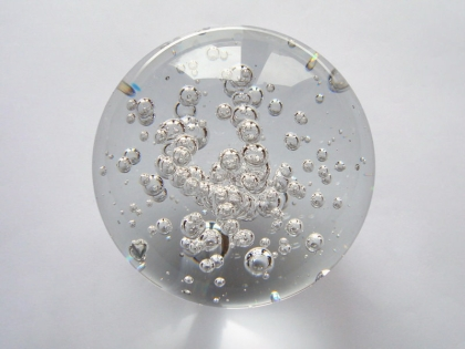 Crystal Glass Balls 100 mm Clear | Crystal Balls | Crystal Bubble Spheres