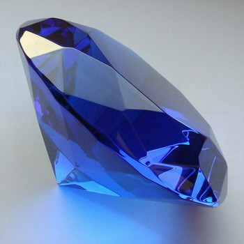 Crystal Glass Diamonds 150 mm Blue