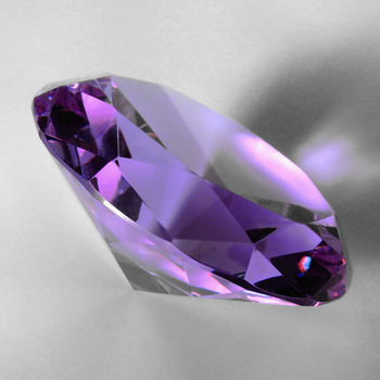 Crystal Glass Diamonds 40 mm Purple