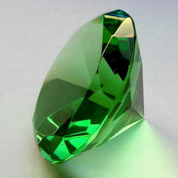 Crystal Glass Diamonds 100 mm Green
