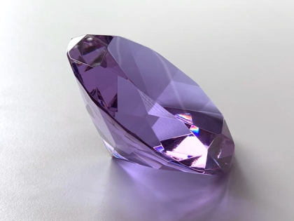 Crystal Glass Diamonds 100 mm Purple