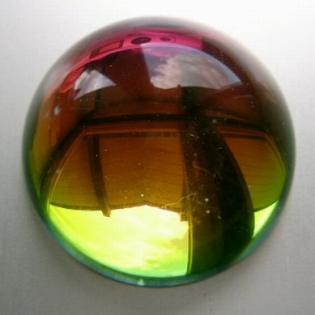 Crystal Glass Ball 100 mm Rainbow with Base