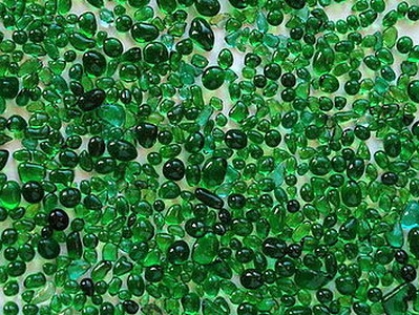 Glass Beads Dark Green 1.5-3 mm | 500 Kg | Glass Pebbles Aggregates