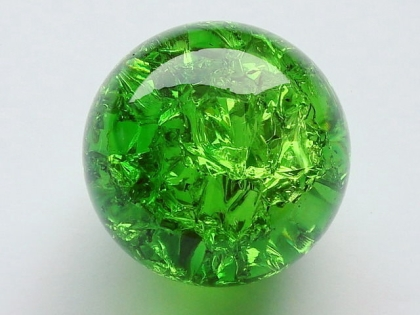 Crystal Glass Balls 50 mm Emerald Green | Cracked Glass Balls | Glass Balls Splintered Effect