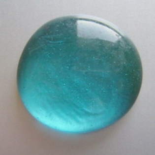 Glass Pebbles 28-30 mm Turquoise Petrol | 1 Kg | Glass Nuggets