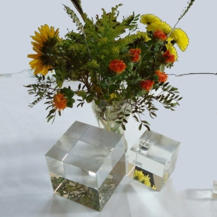 Crystal Glass Cubes 80x80x80 mm Clear | Optically Clean