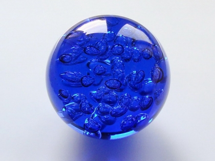 Crystal Glass Balls 150 mm Cobalt Blue | Crystal Balls | Crystal Bubble Spheres