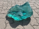 Glass rock turquoise big size approx. 42 cm