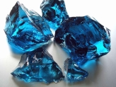 Glass Rocks Ocean Blue  80-120 mm | Kg