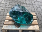 glass rocks turquoise approx. 39x57 cm - 111,5 kg