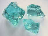 Glass Rocks Turquoise  80-120 mm