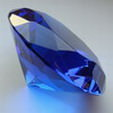 Crystal Glass Diamonds 40 mm Blue