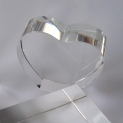 Crystal Glass Hearts 80x65x30 mm Clear with Base | optically clean