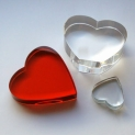 Crystal Glass Hearts 40x40 mm Clear | optically clean