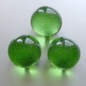 Glass Marbles 16 mm Green