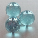 Glass Marbles 16 mm Turquoise | Shimmering Surface | 1 Kg.