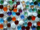 Glass Pebbles 28-30 mm Crazy Mix Colors | Glass Nuggets