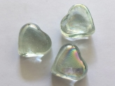 Glass Hearts 25x25 mm Clear | 1 Kg